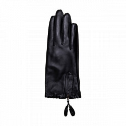 Decoy Leather Gloves 50327 w. Zipper Black
