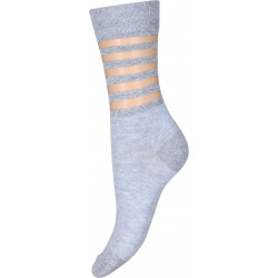 Decoy Ankel Sock 21417-9001 Transparent Stripe Grey