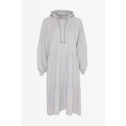Noella Melissa Sweat Dress w. Hoodie Grey Melange