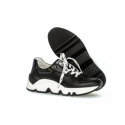 Gabor Sneakers 63.461.27 Natural Leather Black/White