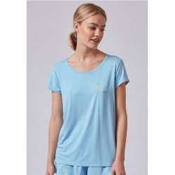 SKINY Shirt Festival Vibe Sleep 5603 Sky Blue
