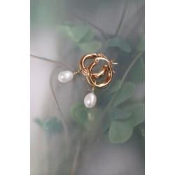 Pico Aubree Hoops Gold w. Fresh Water Pearl