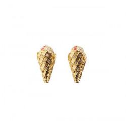 Pico Diamond Cone Stud Gold