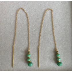 Pico Jean Earrings Gold/Green