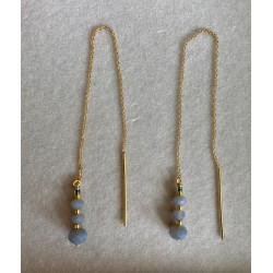 Pico Jean Earrings Gold/Blue
