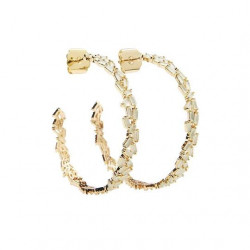 Pico Mary Crystal Stud Gold/Glass