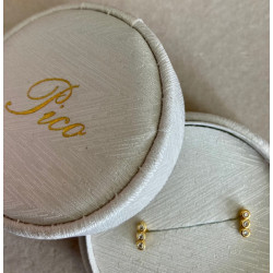 Pico Trible Crystal Stud Gold