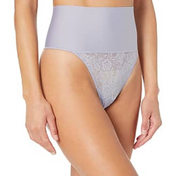 Maidenform Tame Your Tummy Lace Thong DM0049 Light Purple