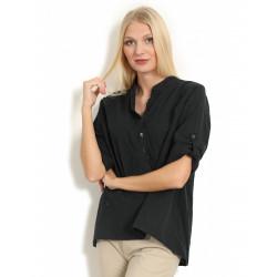 Copenhagen Luxe 1168 Linen Shirt Black
