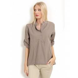 Copenhagen Luxe 1168 Linen Shirt Fango