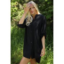 Copenhagen Luxe 1150 Cotton Shirt Black J6