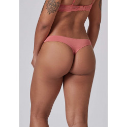 Skiny Thong Bamboo Lace 080586 S061 Faded Rose