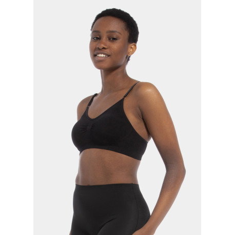 Magic Body Fashion Comfort Bra Spaghetti Straps Bamboo Black