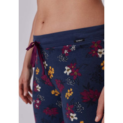 SKINY Long Pants Every Night 080568 S120 Darkblue Flowers