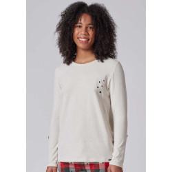 SKINY Shirt L. Sleeve 080575 Whisperwhite Melange