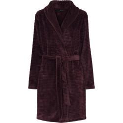 Decoy Short Robe w. Stripes Bordeaux