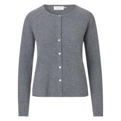 Rosemunde Cardigan Wool & Cashmere 1421-005 Medium Grey Melange