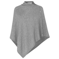 Rosemunde Poncho Wool & Cashmere 1452-005 Medium Grey Melange