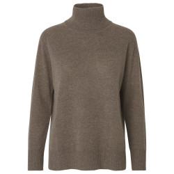 Rosemunde Roll Neck Wool & Cashmere 1440-893 Dark Brown Melange
