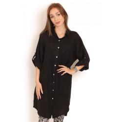 Copenhagen Luxe Linen Shirt 1867 Black