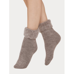 Vogue Socks Softies Home Sock Melange Nutria