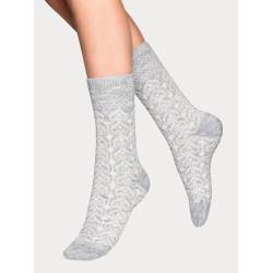 Vogue Christina Wool Sock Light Grey Melange