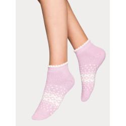 Vogue Luisa Wool Sneaker Sock  Orchid Hush