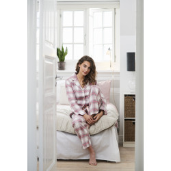 Missya Check Flannel Pyjamas Grey Check